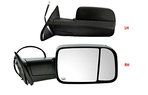 Right Pass Heated Convex Mirror Glass w//Rear Holder for 00-02 Toyota 4Runner