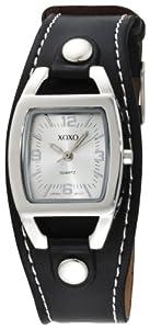 XOXO Women's XO3169 Silver Dial Black Strap Watch