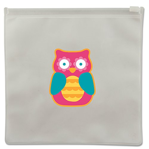 Stephen Joseph Owl Reusable Snack Bags, Clear - 1