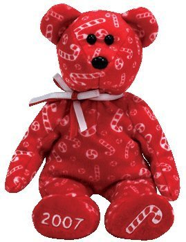 Ty Beanie Babies Candy Canes - Bear Red (Hallmark Exclusive)