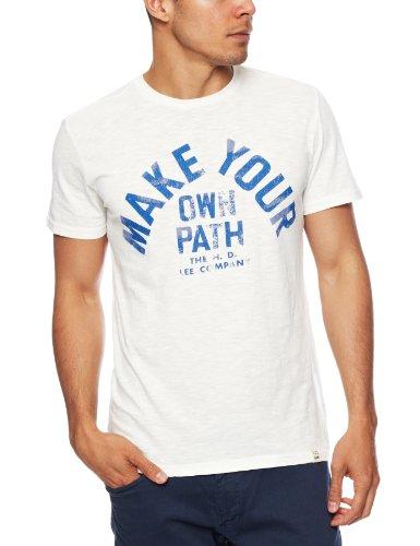 Lee Attitude Slogan Men's T-Shirt Cloud Dancer X Large