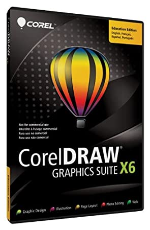 CorelDRAW Graphics Suite X6 ML DVD Education Edition (bilingual software)