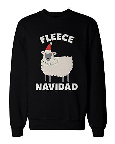 Fleece Navidad Funny Christmas Graphic Sweatshirts - Cute X-mas Pullover Sweater