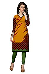 Riddhi Dresses Women's Cotton Unstitched kurti (Riddhi Dresses 30_Multi Coloured_Free Size)