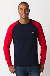 Colorblock Sleeve Crew Neck Sweater