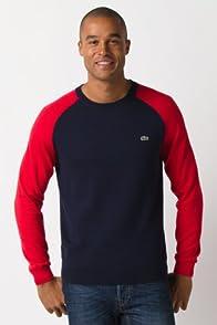 Colorblock Sleeve Crew Neck Sweater