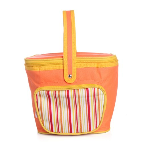 Lunch Tote, Orange Stripes - 1