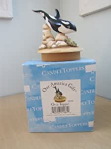Our America Decorative Orca Candle Topper