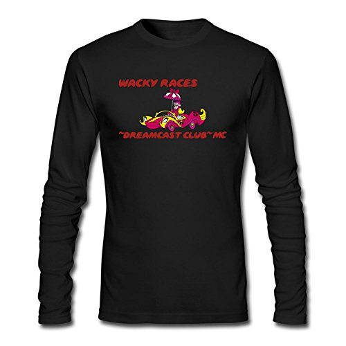 Jonnert Men's Wacky Races Cartoon Long Sleeve Cotton