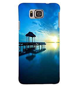 ColourCraft Amazing Scenery Design Back Case Cover for SAMSUNG GALAXY ALPHA G850