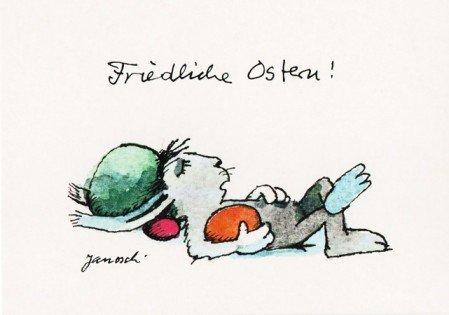 Janosch Postkarte Friedliche Ostern