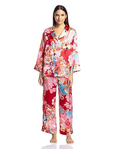 Natori Women's Taisho Mandarin Pajama Set