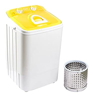 DMR 46-1218 Single Tub Washing Machine with Steel Dryer Basket (4.6 kg, Yellow)