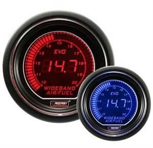 Wideband Digital Air Fuel Ratio Kit Blue/Red EVO Series (Prosport Air Fuel Ratio Gauge compare prices)