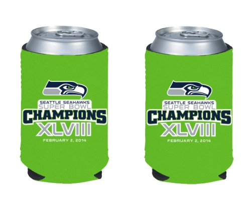 2013 - 2014 Seattle Seahawks Super Bowl XLVIII 48 Champions NFL Can Kaddy Holder Koozie 2-Pack at Amazon.com