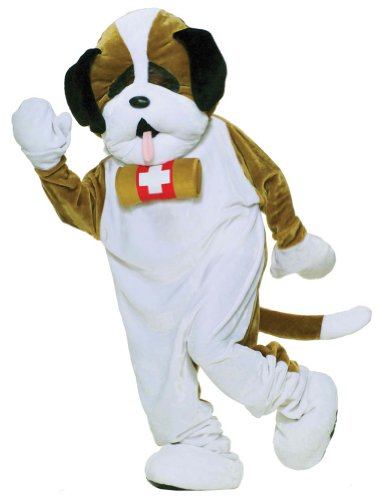 Puppy Mascot White Adult Costume Halloween Costume