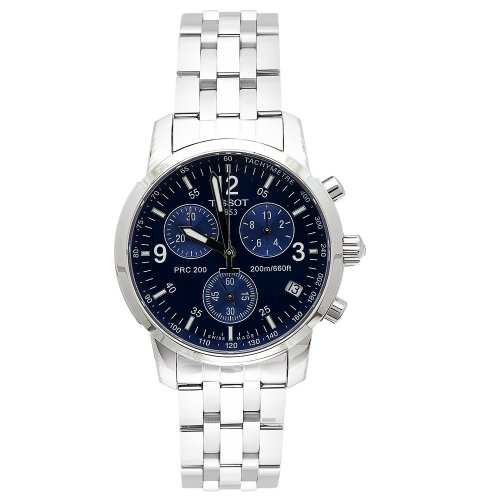 TISSOT PRC 200 T17.1.586.42 GENTS STAINLESS STEEL CASE CHRONOGRAPH DATE WATCH