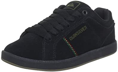 Quiksilver LITTLE AREA 5 SLIM SUEDE KRBSL182, Jungen Sneaker, Schwarz (BLACK RASTA GUM), EU 29