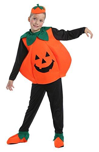 Widmann 55518 - Costume da Zucca di Halloween in Taglia 11/13 Anni