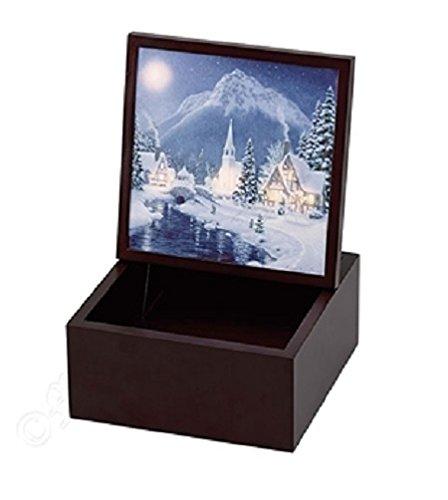 Mr. Christmas Holiday Illuminated Backlit Music Box Decoration #22861
