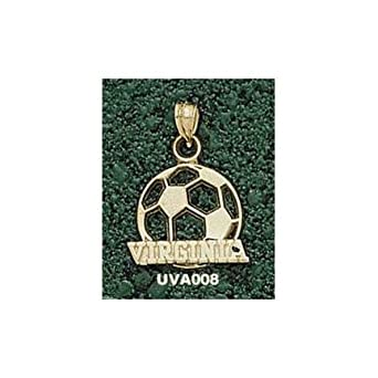 Virginia Cavaliers Virginia Soccer Ball Pendant - 14KT Gold Jewelry by Logo Art