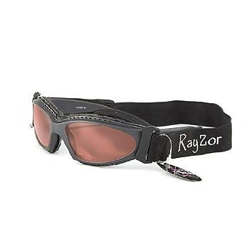 Ray-Zor Masque et Lunettes de Soleil - Multisports - Vtt - Moto - Voile - Conduite - Motard / Mod. Extrem Rouge Clair / Taille Unique Adulte / Pochette Microfibre Incluse / Protection 100% UV400