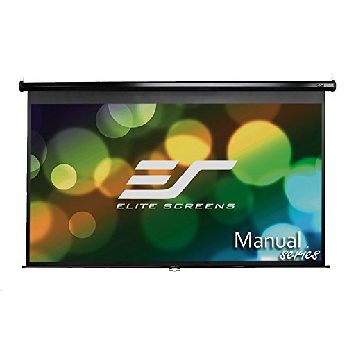 Elite Screens Manual, 100-inch 16:9, Pull Down Projection Manual  Projector Screen with Auto Lock, M100UWH (Sharp Movie Camera compare prices)