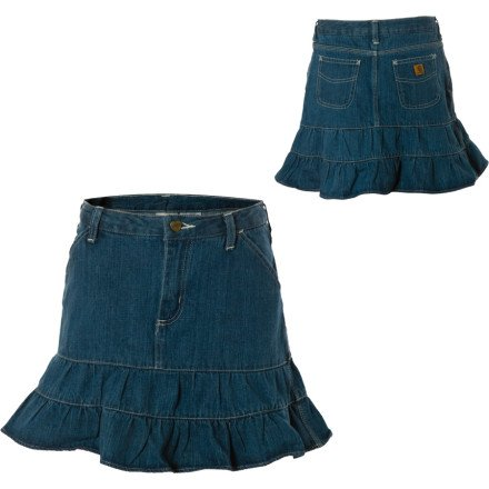 Carhartt Washed Denim Skirt &#8211; Little Girls&#8217;