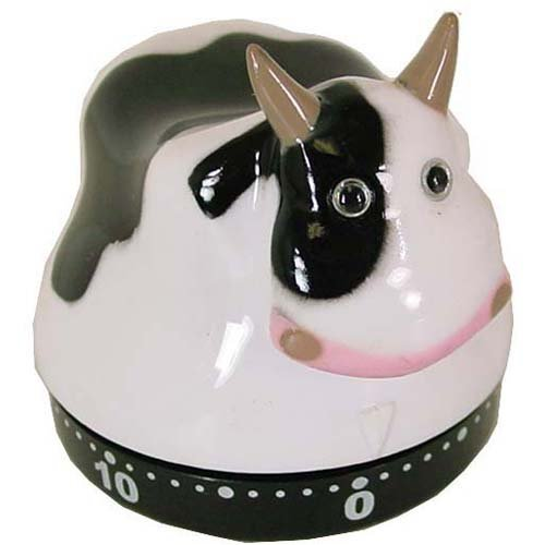 Novelty Chicken Or Cow Fun Design Kitchen Timer French Design, Cow By Sarut
