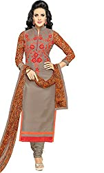 ShivFab Present All New Formal Wear Embroidered Biege Color Dress Meterial.(COTTON DRESS) ANGROOP DAIRYMILK VOL_10