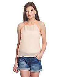 Madame Women's Body Blouse Top (M1518545_Orange_Small)