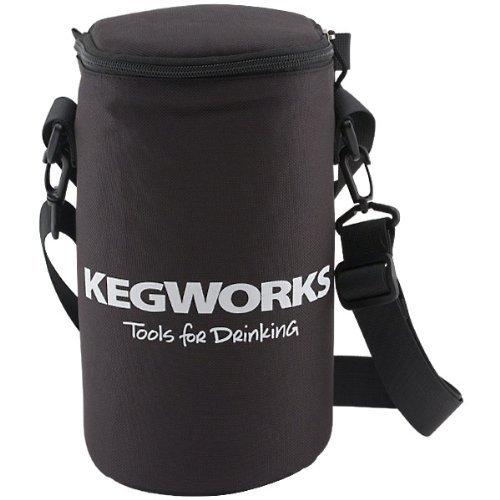 KegWorks Insulated Beer Growler Bag, Black