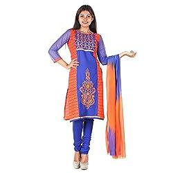 RangoliSF Woman's Cotton Unstitched Dress Material (RSFG1406 Blue)