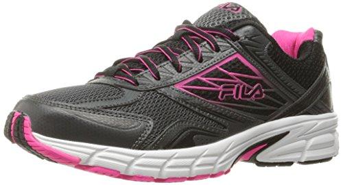 Fila Women's Royalty 2 Running Shoe, Dark Shadow/Pink Glo/Black, 8.5 M US
