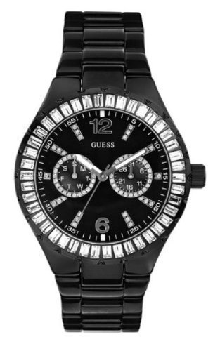 GUESS? Women's 13553L Stainless Steel Crystal Accented Watch
