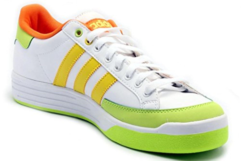 first rate b8356 61473 adidas Originals Men s Nastase Leather Sneaker,White Lemon Slime,4.5 M