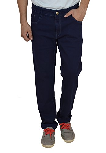 Studio Nexx Men's Denim Regular Fit Jeans (Navy Blue, Size - 34)  available at amazon for Rs.729