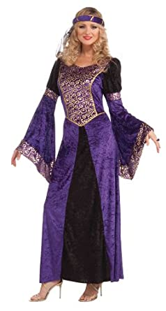 Forum Medieval Maiden Deluxe Costume, Purple/Black, Standard