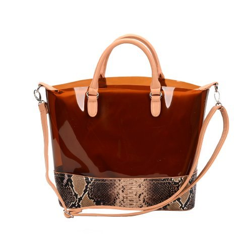 fash-limited-semi-clear-transparent-imprime-serpent-jelly-tote-sac-a-main-epaule-avec-attache-pouch