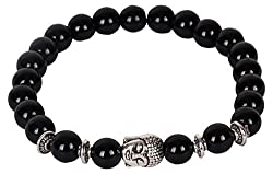OutDazzle Buddha Hematite Energy Anchor Men Bracelet - Black