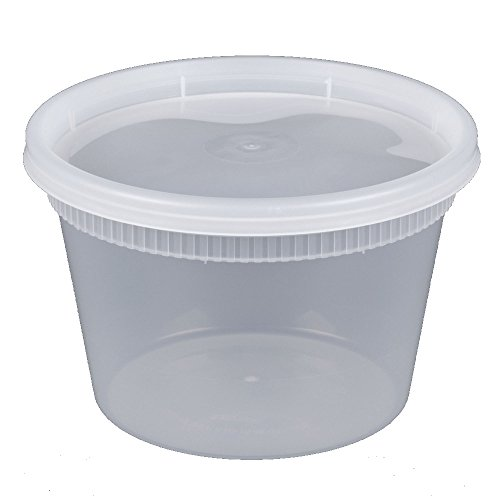 Microwavable, Freezer & Dishwasher Safe 16 oz. Round Deli Food Container with Lids (by Comfy Package) Prevents Leaks and spills [36 PACK] (Deli Food Container 16 compare prices)