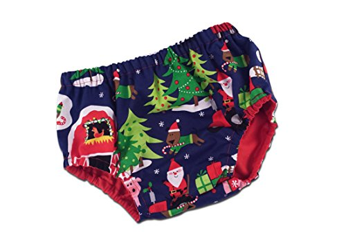 Juxby Kids Baby-Christmas Farm Animals Diaper Cover-6To12M