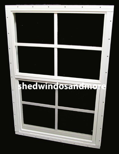 shed window 18 x 27 white flush mount storage shed