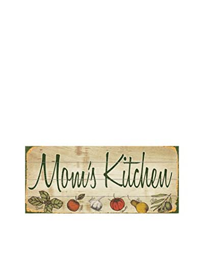 Mom's Kitchen - Vegetables Wood Wall Décor, Beige/Green