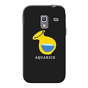 Garmor Plastic Backcover Star Sign Capricorn For Samsung Galaxy Ace Plus S7500 Black