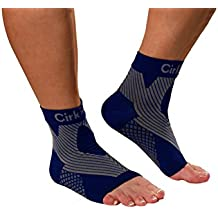MDSOX 096962784737 Premium Ankle Compression Foot Sleeve Small Black Pack Of 2 Navy Blue Extra Extra Large