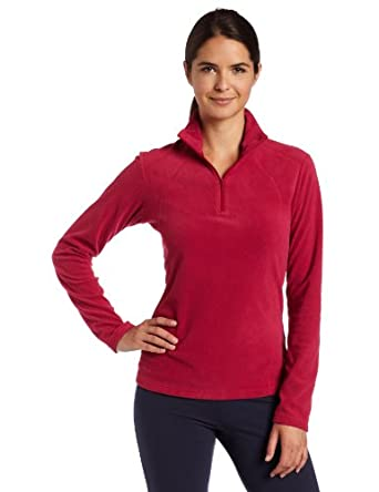 Columbia Womens Glacial 1/2 Zip Fleece, Rouge, X-Small