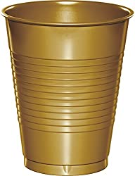 16 Oz Plastic Cups Gold Package of 20