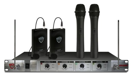 Brand New Nady 401Xq 2Ht/2Lt/O A/B/D/N 4 Channel Wireless Handheld Combo System W/ (2) Lm-14/O Lavaliere Microphones Included + (2) Bodypack Transmitters + (2) Handheld Microphone + Wireless 4 Channel Receiver