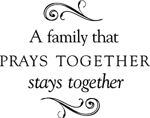 Tapestry Of Truth - A family that PRAYS TOGETHER stays together (Size
